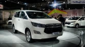 innova new car price 2016 toyota innova crysta launch price specifications