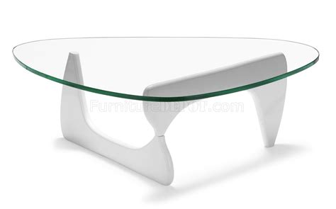 glass top modern coffee table w white black or base