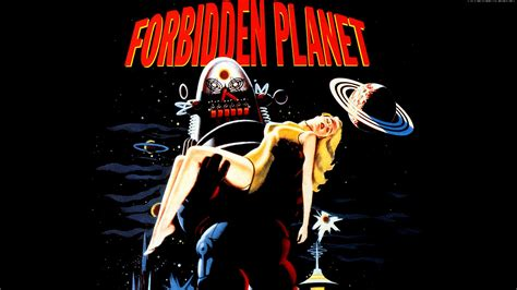 wallpaper classic film forbidden planet full hd wallpaper and background