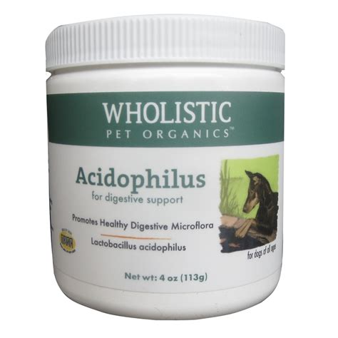 probiotics for dogs wholistic pet organics acidophilus probiotics for dogs cats 4 oz