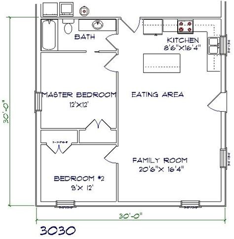 30x30 floor plans 30x30 barndominium studio design gallery