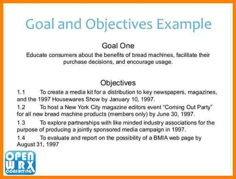 company goals and objectives template 9 business plan objectives introduction letter