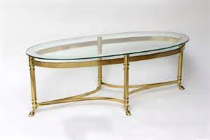 Oval Mirrored Coffee Table Oval Brass Coffee Table With Mirrored Glass Top At 1stdibs