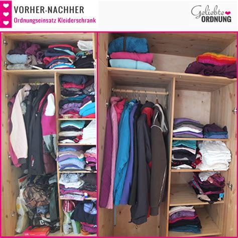 kleiderschrank ordnung vorher nachher bilder vom kleider aussortieren