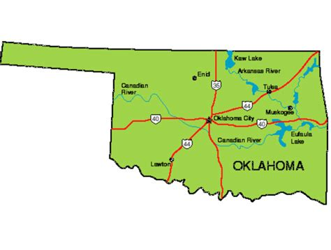 oklahoma images maps update tourist attractions map in oklahoma map