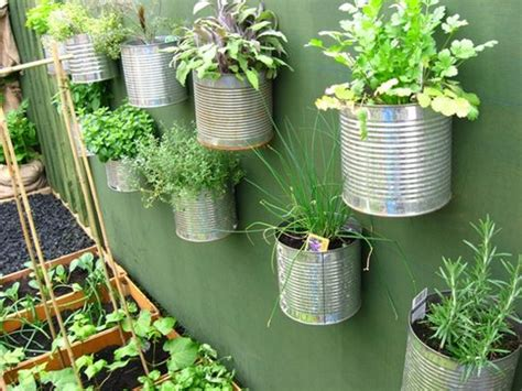 vasi di latta riciclare contenitori di latta per piante e vasi vasi