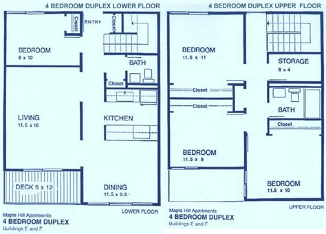 4 bedroom apartment floor plans four bedroom apartments for rent home design