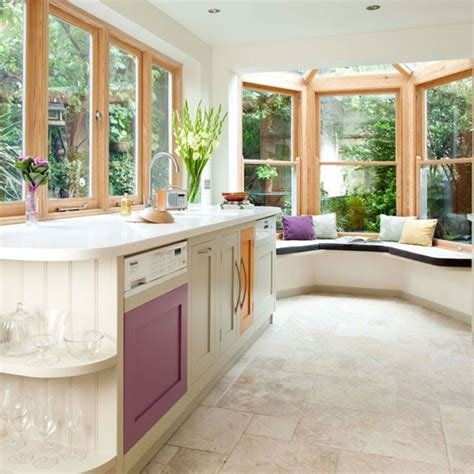 bay window seating in kitchen take a tour of this bright country kitchen housetohome co uk