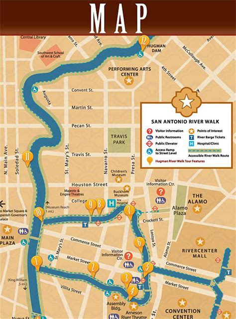 map of downtown san antonio texas pack pedal san antonio