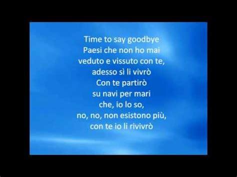 testo time to say goodbye con te partir andrea bocelli