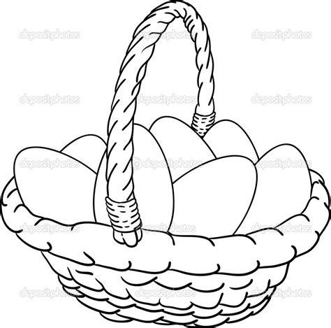 Kaos Bunny And Egg Basket Drawing easter egg basket drawings happy easter 2018