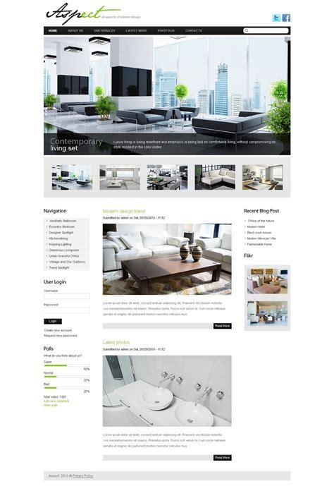 drupal design templates interior design drupal template 36834