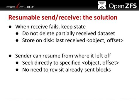 Resume Zfs Send by Openzfs Send And Receive