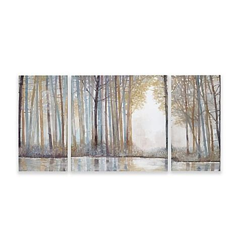 bed bath and beyond wall art madison park forest reflections gel coated canvas wall art set of 3 bed bath beyond