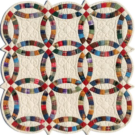 miniature double wedding ring template set quilting from