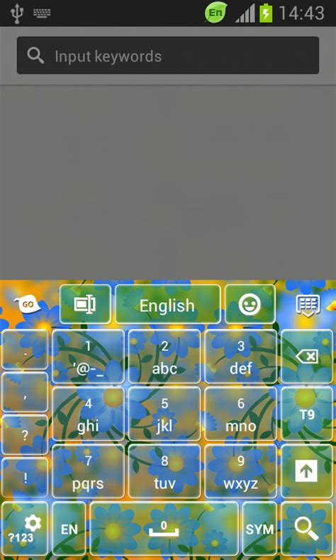 theme keyboard for android go keyboard flower theme free app android freeware