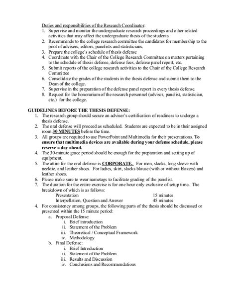 undergraduate dissertation guidelines for the undergraduate thesis with remarks