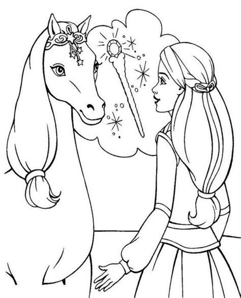 barbie coloring pages with horses barbie coloring pages online az coloring pages