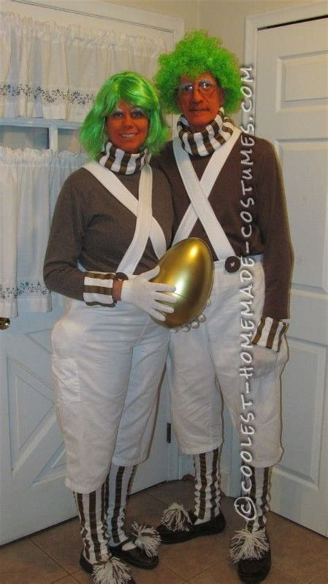 cool homemade oompa loompa couple costume homemade