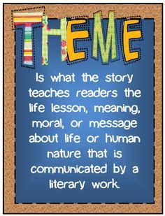 theme exles middle school 1000 images about theme reading anchor charts on