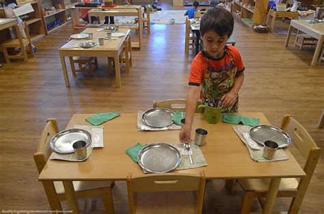 setting the table table setting healthy beginnings montessori
