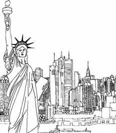 color nyc coloriage adulte new york new york et statue de la libert 233 8