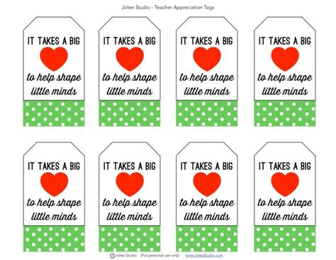 printable teacher appreciation tags 7 best images of teacher appreciation tags printable