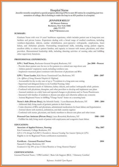 Licensed Practical Resume Objective Nursing Resume Objective Sop