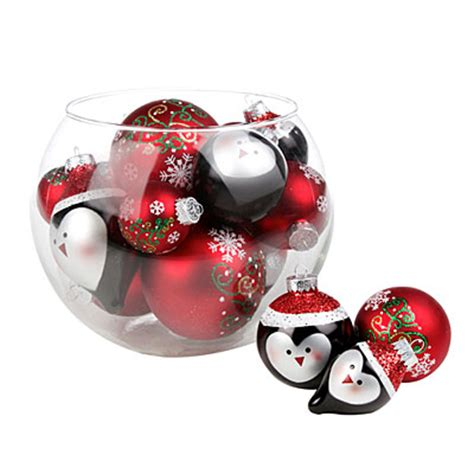 view christmas tree penguin glass ornaments 20 pack
