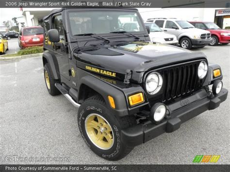 jeep golden eagle interior black 2006 jeep wrangler sport 4x4 golden eagle