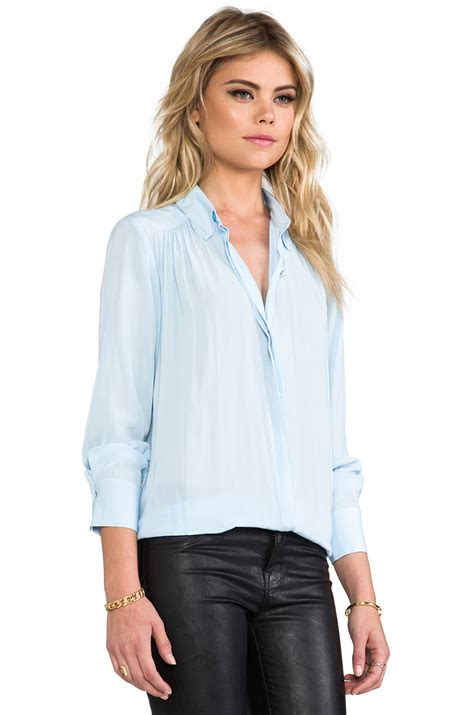 Baby Blue Blouse Girly lyst elizabeth and archie blouse in baby blue in blue