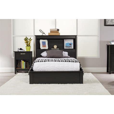 Ameriwood Platform Twin Bed Frame In Black Oak 5950325com Ameriwood Bed