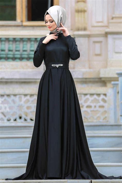 evening dress black hijab dress  neva stylecom