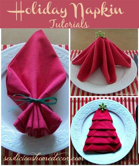 how to fold a christmas tree napkin tutorial christmas