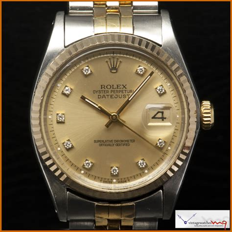 Costie Date Just Index Like A Rolex rolex datejust 1601 steel 14k gold