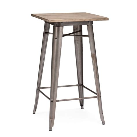 Rustic Bistro Table Shop Zuo Modern Titus Rustic Wood Square Bistro Table At Lowes