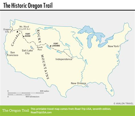 map of oregon landmarks the historic oregon trail road trip usa