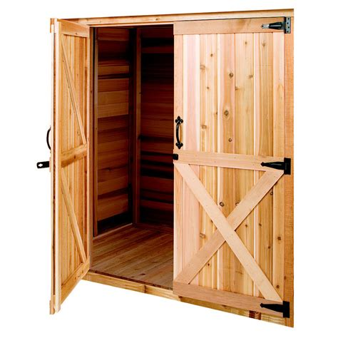 cedarshed cedar storage shed door  lowescom