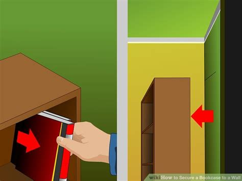how to secure a bookcase to a wall 15 steps with pictures