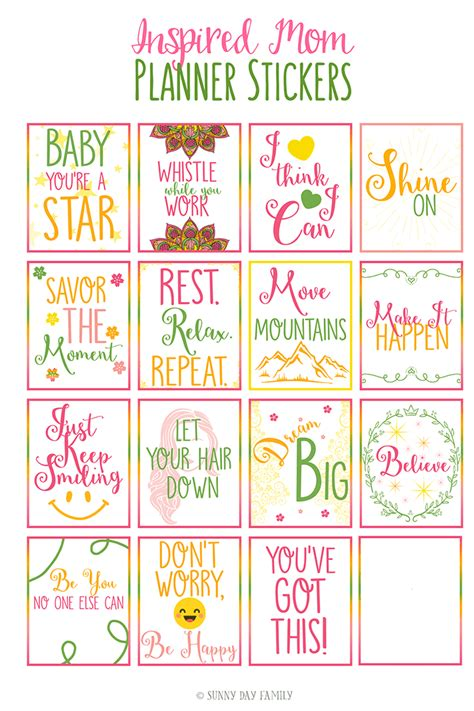 printable quotes stickers free printable inspirational quote planner stickers for