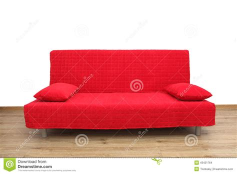 red couch with pillows red sofa in empty living room stock photo image 43421764