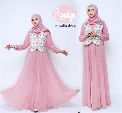 Grosir Baju Gamis Muslim Kia Maxy Two In One Ml novalia dress baju muslim gamis modern