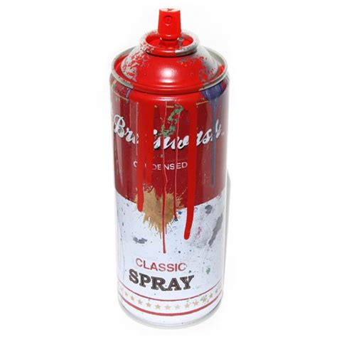 spray paint in cans inside the rock poster frame mr brainwash spray