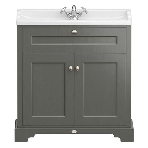 downton abbey traditional vanity unit mm wide charcoal