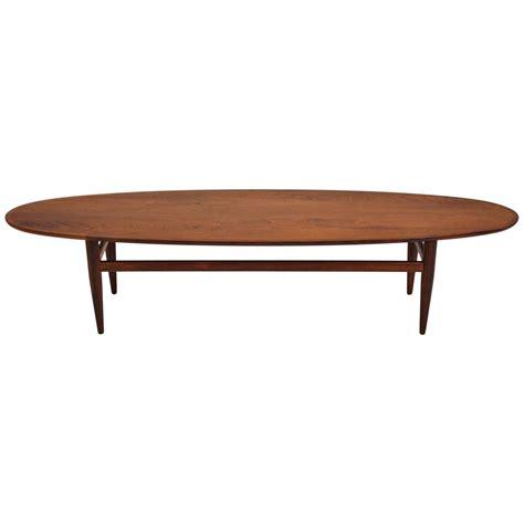 Henredon Coffee Table with Henredon Modernist Surfboard Walnut Coffee Table At 1stdibs