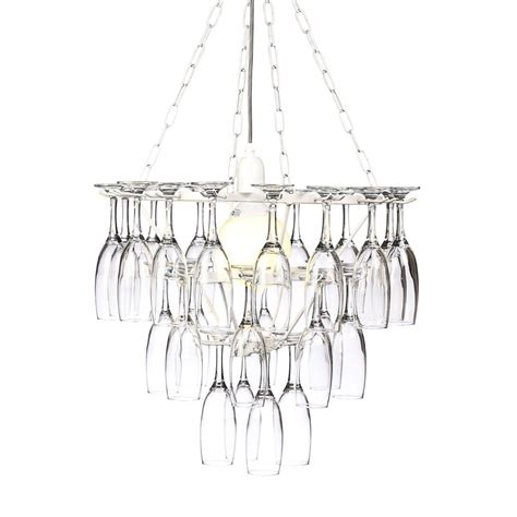 chandelier wine glass wine glass chandelier 4 tier white best price from litecraft
