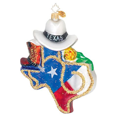 christopher radko ornaments radko texas state texas