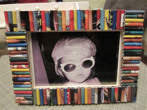 diy picture crafts recycled magazine frame diy inspired
