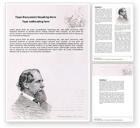 charles dickens biography lesson plan charles dickens powerpoint template backgrounds 04998