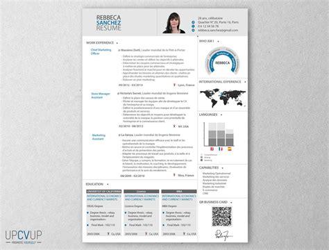 Resume Sample For Marketing by Cv Directeur Marketing Cv Moderne Upcvup